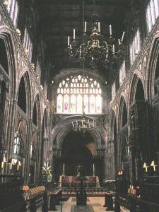 Manchester Cathedral (the former collegiate church), with Heyrick's memorial brass